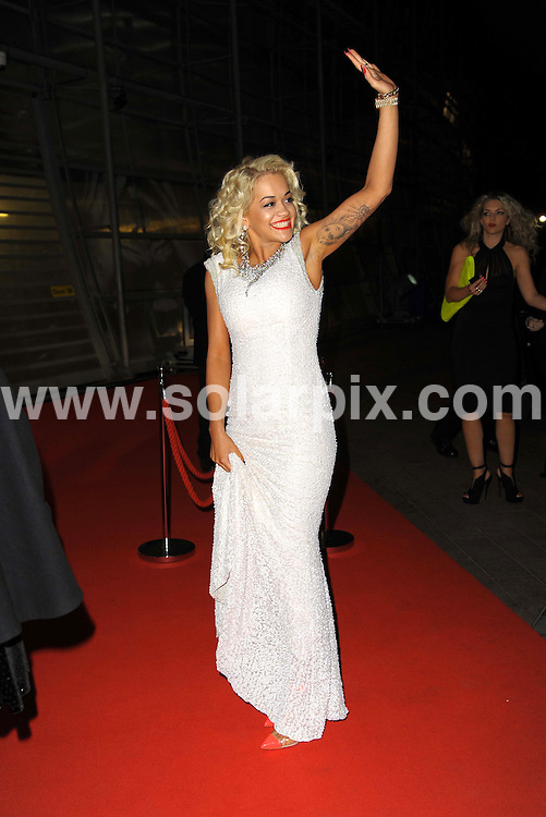 **ALL ROUND PICTURES FROM SOLARPIX.COM**                                             **WORLDWIDE SYNDICATION RIGHTS**                                                                                  Stars arrive at London's O2 Arena for the 2012 Brit Awards..This pic:   Rita Ora                                .JOB REF:    14495   MSR     DATE:   22.02.12                                                         **MUST CREDIT SOLARPIX.COM OR DOUBLE FEE WILL BE CHARGED**                                                                      **MUST AGREE FEE BEFORE ONLINE USAGE**                               **CALL US ON: +34 952 811 768 or LOW RATE FROM UK 0844 617 7637**
