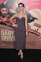 "14 June 2017 - Los Angeles, California - Lily James. Los Angeles Premiere of ""Baby Driver"" held at the Ace Hotel Downtown in Los Angeles. Photo Credit: Birdie Thompson/AdMedia"