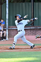 Pulaski Yankees shortstop Jesus Bastidas (12) swings at a pitch during a game against the Elizabethton Twins at Joe O'Brien Field on June 27, 2016 in Elizabethton, Tennessee. The Yankees defeated the Twins 6-4. (Tony Farlow/Four Seam Images)