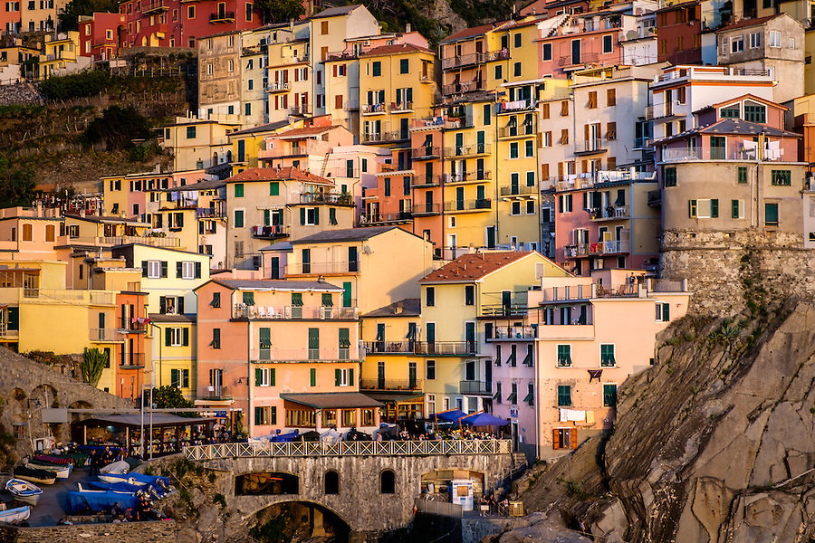 MANAROLA, ITALY - CIRCA MAY 2015:  Village of Manarola  in Cinque Terre, Italy.