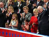 New York, NY - August  30, 2004 -- United States Vice President Dick Cheney,  Lynne Cheney and their family appear at the 2004 Republican National Convention in New York, New York on August 30, 2004.  From left to right: Philip Perry, husband of Elizabeth Cheney, Elizabeth Cheney, Mary Cheney, Lynne Cheney, and Vice President Dick Cheney.  The three young girls are the daughters of Philip Perry and Elizabeth Cheney.  Mary Cheney has become the center of controversy following remarks concerning her sexual orientation were made by John Kerry, the Democratic nominee for President during the third and final debate in Tempe, Arizona on October 13, 2004.  .Credit: Ron Sachs / CNP  .(RESTRICTION: No New York Metro or other Newspapers within a 75 mile radius of New York City)