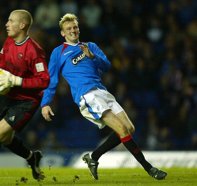 Stephen Hughes, Rangers.Stock season 2003-2004.pic willie vass