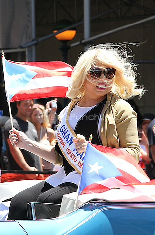 NEW YORK, NY - JUNE 12:  Ednita Nazario, Grand Marshall, at the 59th annual National Puerto Rican Day Parade in New York, New York on June 12,  2016.  Photo Credit: Rainmaker Photo/MediaPunch