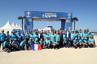 9 juin 2016 Euro 2016 Fan Zone Marseille plage du prado . les benevoles