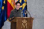 Mitsuo Miura's wife during the delivery of the XXVII Edition of Tomas Francisco Prieto Award to Japanese artist Mitsuo Miura in Madrid, Spain. January 20, 2017. (ALTERPHOTOS/BorjaB.Hojas)