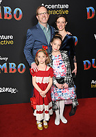 11 March 2019 - Hollywood, California - Ptolemy Slocum. &quot;Dumbo&quot; Los Angeles Premiere held at Ray Dolby Ballroom. Photo <br /> CAP/ADM/BT<br /> &copy;BT/ADM/Capital Pictures