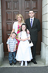 Lauren Whelan and family at the St. Brigid's Communion in the Lourdes Church...Photo NEWSFILE/Jenny Matthews.(Photo credit should read Jenny Matthews/NEWSFILE)....This Picture has been sent you under the condtions enclosed by:.Newsfile Ltd..The Studio,.Millmount Abbey,.Drogheda,.Co Meath..Ireland..Tel: +353(0)41-9871240.Fax: +353(0)41-9871260.GSM: +353(0)86-2500958.email: pictures@newsfile.ie.www.newsfile.ie.FTP: 193.120.102.198.