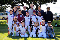 The Moreporks pose for a group photo after the Junior Wellington Year Four cricket match between the Eastern Suburbs Moreporks and the Eastern Suburbs Wekas at Kilbirnie Park in Wellington, New Zealand on Saturday, 11 November 2017. Photo: Dave Lintott / lintottphoto.co.nz
