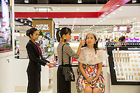 June 28, 2014 - Phnom Penh, Cambodia. Aeon Mall two days before the official opening. © Nicolas Axelrod / Ruom