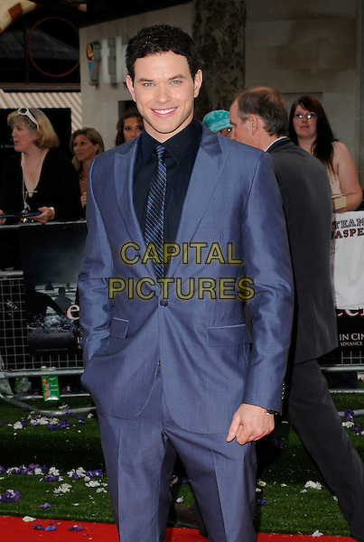 "KELLAN LUTZ .UK Gala Premiere of ""The Twilight Saga: Eclipse"" at the Odeon Leicester Square, London, England, UK, July 1st 2010. .half length blue suit tie black hand in pocket .CAP/CAN.©Can Nguyen/Capital Pictures."