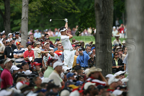 16 August 2009: Y.E. Yang of South Korea hits a shot during the final round of the 91st PGA Championship at Hazeltine National Golf Club in Chaska, Minnesota. (Photo: Charles Baus/actionplus)