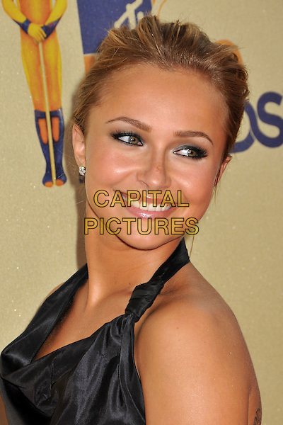 HAYDEN PANETTIERE.18th Annual MTV Movie Awards - Arrivals held at the Universal Gibson Amphitheater, Universal City, CA, USA..May 31st, 2009.headshot portrait looking over shoulder  black halterneck.CAP/ADM/BP.©Byron Purvis/AdMedia/Capital Pictures.