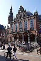 Nederland Groningen  2019. Fietsen voor het Academiegebouw.  Foto Berlinda van Dam / Hollandse Hoogte