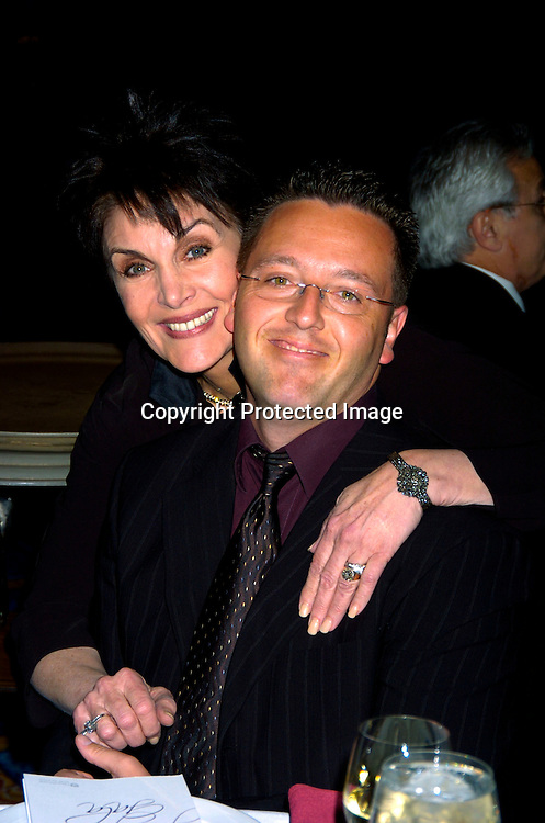 Linda Dano and John Edward..at HeartShare 's Annual Spring Gala on March 24, 2004 at the Marriott Marquis in New York City...Photo by Robin Platzer, Twin Images