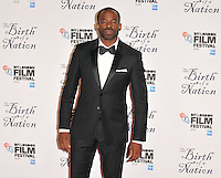 Chike Okonkwo at the &quot;The Birth of a Nation&quot; 60th BFI London Film Festival Headline gala screening, Odeon Leicester Square cinema, Leicester Square, London, England, UK, on Tuesday 11 October 2016.<br /> CAP/CAN<br /> &copy;CAN/Capital Pictures /MediaPunch ***NORTH AND SOUTH AMERICAS ONLY***
