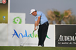Damien McGrane (IRL) tees off on the par3 9th tee during Day 1 Thursday of the Open de Andalucia de Golf at Parador Golf Club Malaga 24th March 2011. (Photo Eoin Clarke/Golffile 2011)