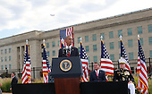 United States President Barack Obama delivers remarks at the Pentagon Memorial in Washington, DC during an observance ceremony to commemorate the 15th anniversary of the 9/11 terrorist attacks, Sunday, September 11, 2016. <br /> Credit: Dennis Brack / Pool via CNP