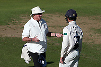 Umpire Nick Cook in conversation with Essex skipper Ryan ten Doeschate during Warwickshire CCC vs Essex CCC, Specsavers County Championship Division 1 Cricket at Edgbaston Stadium on 11th September 2019