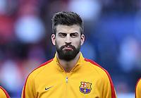 FUSSBALL CHAMPIONS LEAGUE  SAISON 2015/2016 VIERTELFINAL RUECKSPIEL Atletico Madrid - FC Barcelona       13.04.2016 Gerard Pique (Barca)