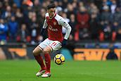 10th February 2018, Wembley Stadium, London England; EPL Premier League football, Tottenham Hotspur versus Arsenal; Mesut Ozil of Arsenal
