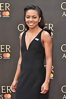Adrienne Warren<br /> The Olivier Awards 2018 , arrivals at The Royal Albert Hall, London, UK -on April 08, 2018.<br /> CAP/PL<br /> &copy;Phil Loftus/Capital Pictures