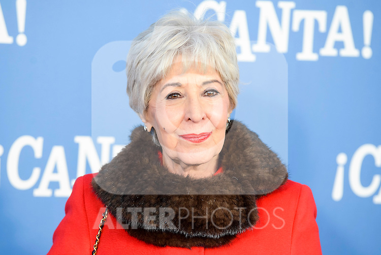 """Concha Velasco attends to the premiere of the film """"¡Canta!"""" at Cines Capitol in Madrid, Spain. December 18, 2016. (ALTERPHOTOS/BorjaB.Hojas)"""