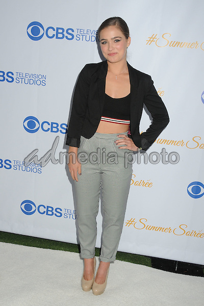 18 May 2015 - West Hollywood, California - Haley Lu Richardson. 3rd Annual CBS Television Studios Rooftop Summer Soiree held at The London Hotel. Photo Credit: Byron Purvis/AdMedia