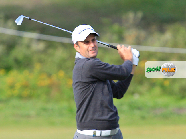 Richard Bland (ENG) on the 1st fairway during Round 4 of the 2015 KLM Open at the Kennemer Golf &amp; Country Club in The Netherlands on 13/09/15.<br /> Picture: Thos Caffrey | Golffile