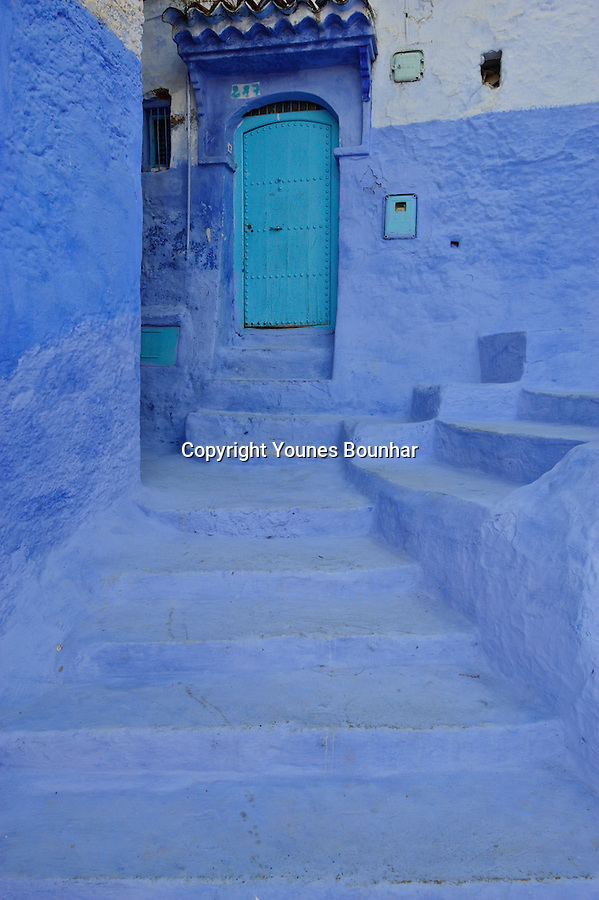 The northern town of Chefchaouen (Chaouen), located at the foot of the Rif mountains of Morocco, is famous for its mesmerizing blue streets and doorways