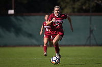 STANFORD, CA - October 21, 2018: Abby Greubel at Laird Q. Cagan Stadium. No. 1 Stanford Cardinal defeated No. 15 Colorado Buffaloes 7-0 on Senior Day.