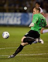 Brad Guzan during FIFA World Cup qualifier against El Salvador. USA tied El Salvador 2-2 at Estadio Cuscatlán Stadium in El Salvador on March 28, 2009.