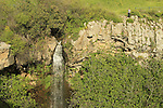 Golan Heights, Ayit waterfall in Yehudiya nature reserve