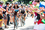 Silvan Dillier (SUI) AG2R La Mondiale climbs the Portillon during Stage 15 of the 2018 Tour de France running 218km from Carcassonne to Bagneres-de-Luchon, France. 24th July 2018. <br /> Picture: ASO/Alex Broadway | Cyclefile<br /> All photos usage must carry mandatory copyright credit (© Cyclefile | ASO/Alex Broadway)