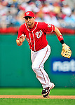 15 August 2010: Washington Nationals third baseman Ryan Zimmerman in action against the Arizona Diamondbacks at Nationals Park in Washington, DC. The Nationals defeated the Diamondbacks 5-3 to take the rubber match of their 3-game series. Mandatory Credit: Ed Wolfstein Photo