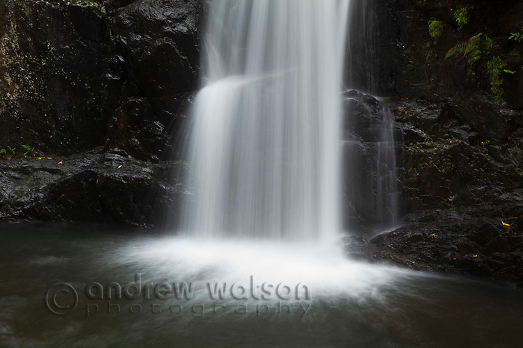 Waterfall at Crystal Cascades - a popular freshwater swimming hole near Cairns, Queensland, Australia