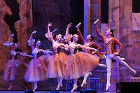 Members of the Moscow City Ballet Company perform their piece Swan Lake in Budapest, Hungary on November 23, 2014. ATTILA VOLGYI