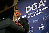 Washington, DC - October 1, 2009 -- United States President Barack Obama makes remarks at the Democratic Governors Association fundraiser at the St. Regis Hotel in Washington, D.C. on Thursday, October 1, 2009.  .Credit: Gary Fabiano / Pool via CNP