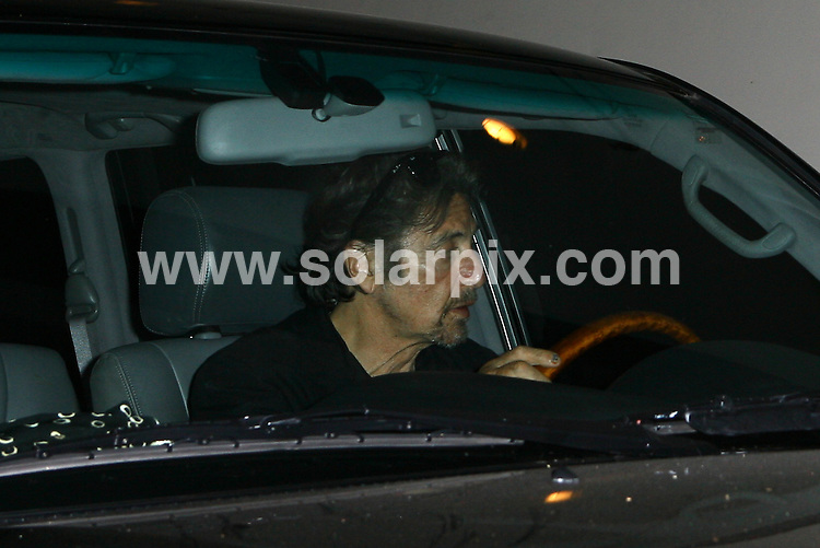 **ALL ROUND PICTURES FROM SOLARPIX.COM**.**WORLDWIDE SYNDICATION RIGHTS**.**NO PUBLICATION IN USA, DENMARK, GERMANY OR RUSSIA.Al Pacino tries to avoid paparazzi while leaving Madeo Restaurant in Beverly Hills.  During his exit he displays his blue painted fingernails. Beverly Hills, USA. 17th August 2008..This pic: Al Pacino..JOB REF: 7050 LAP/Lancer        DATE: 17_08_2008.**MUST CREDIT SOLARPIX.COM OR DOUBLE FEE WILL BE CHARGED* *UNDER NO CIRCUMSTANCES IS THIS IMAGE TO BE REPRODUCED FOR ANY ONLINE EDITION WITHOUT PRIOR PERMISSION*