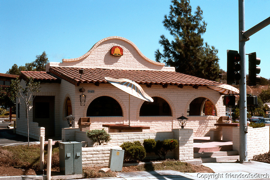 Typical design for Taco Bell, San Diego