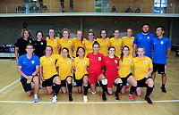 The Capital team. 2019 Women's Futsal SuperLeague tournament final between Canterbury United Pride and Capital Futsal at ASB Sports Centre in Wellington, New Zealand on Sunday, 17 February 2019. Photo: Dave Lintott / lintottphoto.co.nz