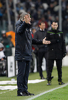 Calcio, Serie A: Juventus vs Inter. Torino, Juventus Stadium, 28 February 2016.<br /> Inter's coach Roberto Mancini gives indications to his players during the Italian Serie A football match between Juventus and Inter at Turin's Juventus Stadium, 28 February 2016.<br /> UPDATE IMAGES PRESS/Isabella Bonotto