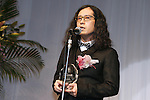 Naoki Matayoshi, Oct 6, 2015 : Winners of The 28th Japan Best Dressed Eyes Awards were announced at Tokyo Big Site on October 6, 2015. Celebrities, politicians and businessmen with outstanding eyewear fashion sense were presented with the award. (Photo by Sho Tamura/AFLO)