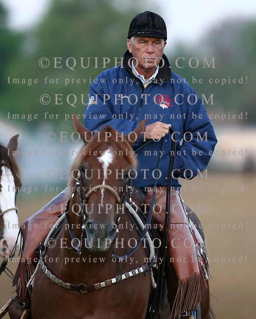 Hall Of Fame Trainer D. Wayne Lukas on the track at Churchill Downs in Louisville, Kentucky.   Photo By Bill Denver/EQUI-PHOTO