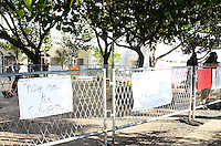 RIO DE JANEIRO, RJ, 09.11.2013 - PROTESTO / BILL CLINTON / CLINTON GLOBAL INTIATIVE (CGI) / RJ - Protesto em frente ao Copacabana Palace, onde está sendo realizado,o  clinton Global Intiative, na manhã desta segunda-feira (09), em Copacabana, zona sul da cidade do Rio de Janeiro. (Foto: Marcelo Fonseca / Brazil Photo Press).