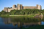 Pembroke Castle standing beside the River Cleddau a medieval castle in Pembroke, West Wales