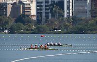 Rio de Janeiro. BRAZIL.   2016 Olympic Rowing Regatta. Lagoa Stadium,<br /> Copacabana,  &ldquo;Olympic Summer Games&rdquo;<br /> Rodrigo de Freitas Lagoon, Lagoa. Local Time 12:38:22   Saturday  06/08/2016 <br /> <br /> [Mandatory Credit; Peter SPURRIER/Intersport Images]