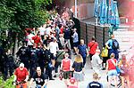 27.06.2020, Stadion an der Wuhlheide, Berlin, GER, DFL, 1.FBL, 1.FC UNION BERLIN  VS. Fortuna Duesseldorf , <br /> DFL  regulations prohibit any use of photographs as image sequences and/or quasi-video<br /> im Bild Unionfans (1.FC Union Berlin)  am Zaun auf der Waldseite<br /> <br /> <br />      <br /> Foto © nordphoto / Engler