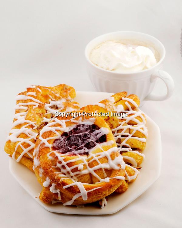 Danish coffee and whipped cream