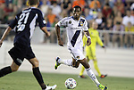 29 May 2012: Los Angeles' Leonardo (BRA). The Carolina RailHawks (NASL) defeated the Los Angeles Galaxy (MLS) 2-1 at WakeMed Soccer Stadium in Cary, NC in a 2012 Lamar Hunt U.S. Open Cup third round game.
