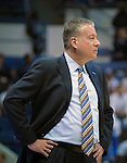 February 15, 2017:  Air Force head coach, Dave Pilipovich, during the NCAA basketball game between the University of Nevada Wolfpack and the Air Force Academy Falcons, Clune Arena, U.S. Air Force Academy, Colorado Springs, Colorado.  Nevada defeats Air Force 78-59.